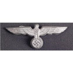 """WEHRMACHT EAGLE FOR VISOR HAT-2 1/2""""-HAS ALL 3 PRONGS-O"""