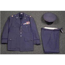 USAF MAJOR'S FULL UNIFORM, PANTS & VISOR CAP