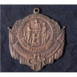 CIVIL WAR VETERANS  GAR  46TH NATIONAL ENCAMPMENT BADGE