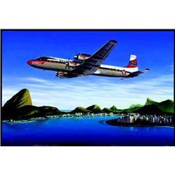 Aviation Art Seven Seas to Rio Machat DC-7