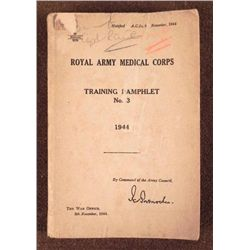 WWII 1944 ROYAL ARMY MEDICAL CORPS BOOK -ENGLAND