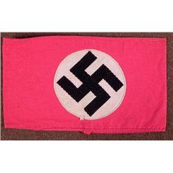 NAZI NSDAP/PARTY ARMBAND-ORIG RARE EARLY MULTI-PC