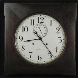1910 ERA SETH THOMAS 30 DAY SQUARE GALLERY WALL CLOCK