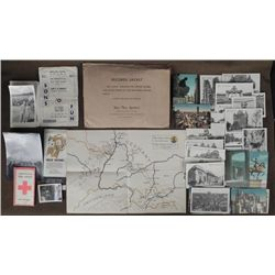 WWII 103rd DIVISION GI LOT-MAP OF BATTLE-PICS-POSTCARDS
