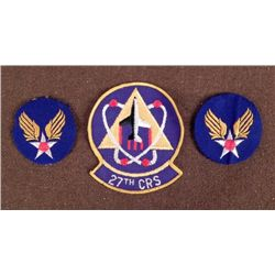 3 U.S. PATCHES--2 AAF & 27TH CRS LARGE PATCH