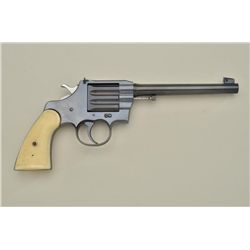 "Colt Camp Perry single shot pistol, .22LR cal., 8"" barrel, blue finish, replaced checkered white pla"