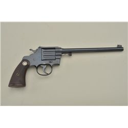 "Colt Camp Perry single shot pistol, .22LR cal., 10"" barrel, British proofed, re-blued finish, checke"