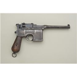 "Broomhandle Mauser semi-auto pistol, Model 1930, 7.63mm cal., 5-1/4"" barrel, Chinese characters (3)"