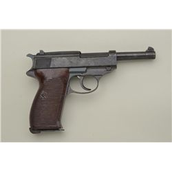 German P-38 semi-auto pistol by Mauser, 9mm cal., byf 44 marked, eagle L – Police, Waa 135 Waffen am