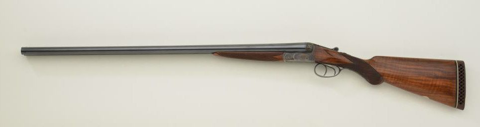 Pre-war Belgium box lock, 12 gauge SxS shotgun signed Le Page, Liege and  serial numbered 53097  The