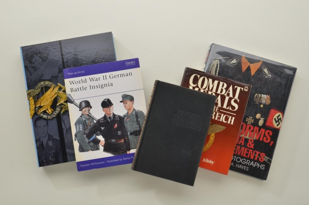 Lot of research books on German insignia consisting of