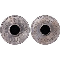 1934 Fiji 1/2D PCGS MS65