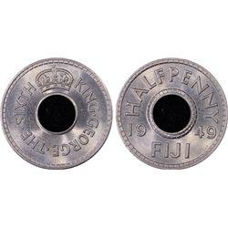 1949 Fiji 1/2D PCGS MS65