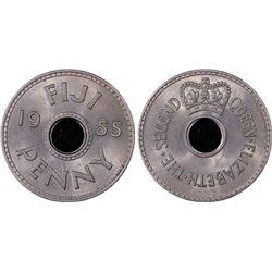 1955 Fiji 1D PCGS MS64