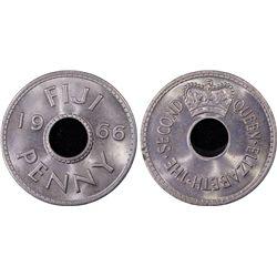 1966 Fiji 1D PCGS MS66