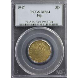 1947 Fiji 3D PCGS MS64