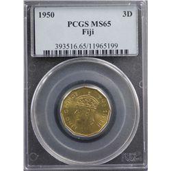 1950 Fiji 3D PCGS MS65