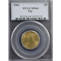 1961 Fiji 3D PCGS MS64