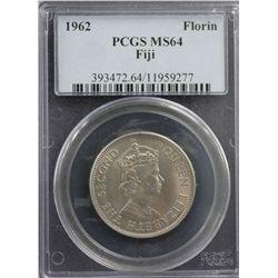1962 Fiji Florin PCGS MS64