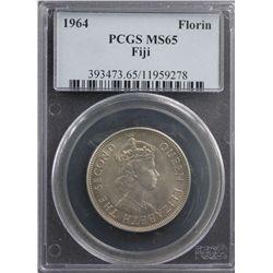 1964 Fiji Florin PCGS MS65