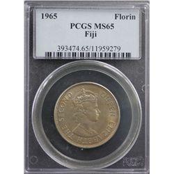 1965 Fiji Florin PCGS MS65