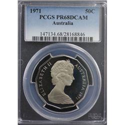 1971 Australia 50c PCGS PR68DCAM