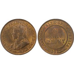 1912-H 1/2D PCGS MS64RB