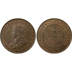 1931 1/2D PCGS MS63BN