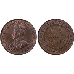 1933 1/2D PCGS MS64BN