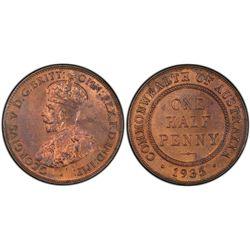 1935 1/2D PCGS MS62RB
