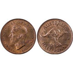 1940 1/2D PCGS MS64RB