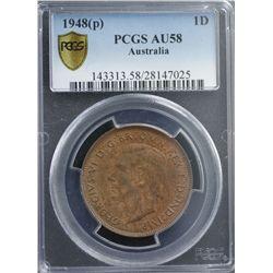1948(p) 1D PCGS AU58