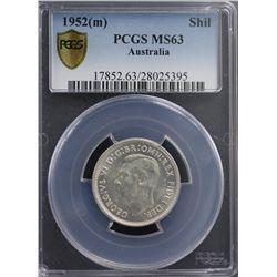 1952(m) Shilling PCGS MS63