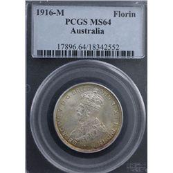 1916 Florin PCGS MS64
