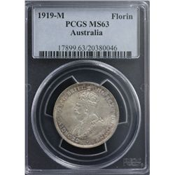 1919-M Florin PCGS MS63