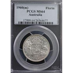 1960(m) Florin PCGS MS64