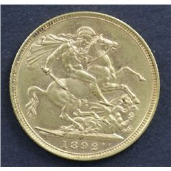 Australia Sovereign 1892 M