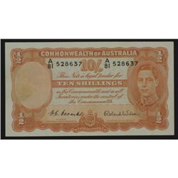 George V1 Ten Shillings Coombs Wilson,