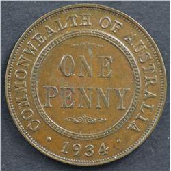 Australia Pennies 1913, 1934,1935, 1952
