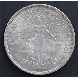 New Zealand ½ Crown 1940 Choice Uncirculated