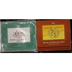 Australia 1986 Mint Sets x 3, 1985 Mint Sets x 3