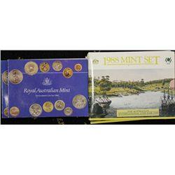 Australia 1988 Mint Sets x 3, 1984 Mint Sets x 2