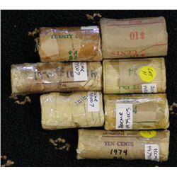Australia Mint Rolls 10 Cent 1978-79. 20 Cent 1979, 80, 81, 82 50 Cent 1987