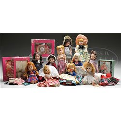 1950S GINNY DOLLS, BOXED GINNY CLOTHING, AND OTHER DOLLS AS WELL.