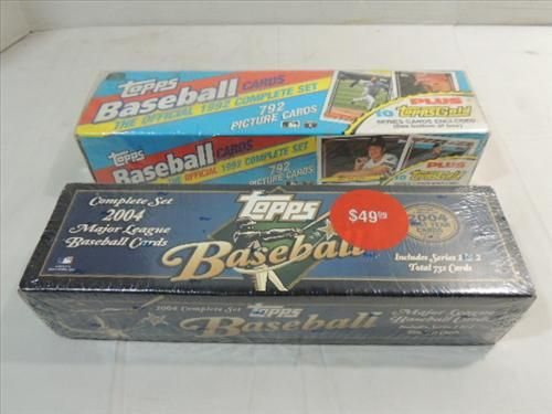Lot 2 1992 2004 Topps Baseball Cards Factory Set