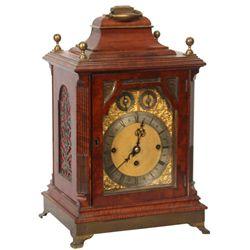 Mahogany Triple Fusee Bracket Clock