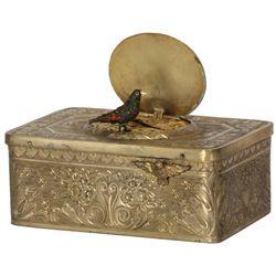 Brass Animated Singing Bird Box