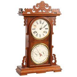"E.N. Welch ""Arditi"" Double Dial Clock"