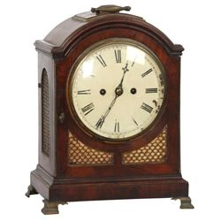 English Double Fusee Bracket Clock