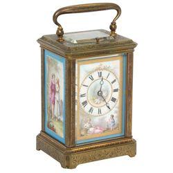 Porcelain Panel Carriage Clock
